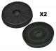 2 filtres charbon actif hotte FAR HC250B