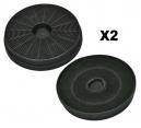 2 filtres charbon actif hotte FAR HD500X