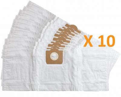 10 sacs Microfibre aspirateur ELEM TECHNIC AEP 1400W 30L