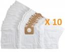 10 sacs Microfibre aspirateur PARKSIDE PNTS 1250 - PNTS 1300