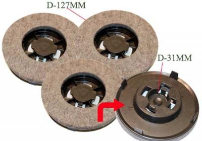 disque feutre x3 pour aspirateur tornado cireuse chambord. Black Bedroom Furniture Sets. Home Design Ideas