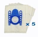5 sacs Microfibre aspirateur DE SINA HIPPO