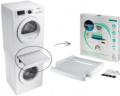 Kit superposition universel avec tablette lave-linge/sèche-linge