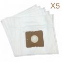 5 sacs Microfibre aspirateur QUIGG VC10 - VC10DB - VC10F - VC10FB - VC10FC