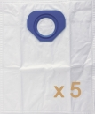 5 sacs Microfibre aspirateur NILFISK GM90