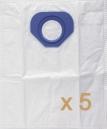 5 sacs Microfibre aspirateur NILFISK GS90