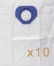 0 sac Microfibre aspirateur Nilfisk-Alto GS 80