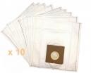 10 sacs Microfibre aspirateur AKIBA EUP 100 DE