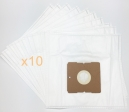 10 sacs Microfibre aspirateur NILFISK BRAVO