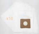 10 sacs Microfibre aspirateur PROLINE VC1300E/1300M/1300P