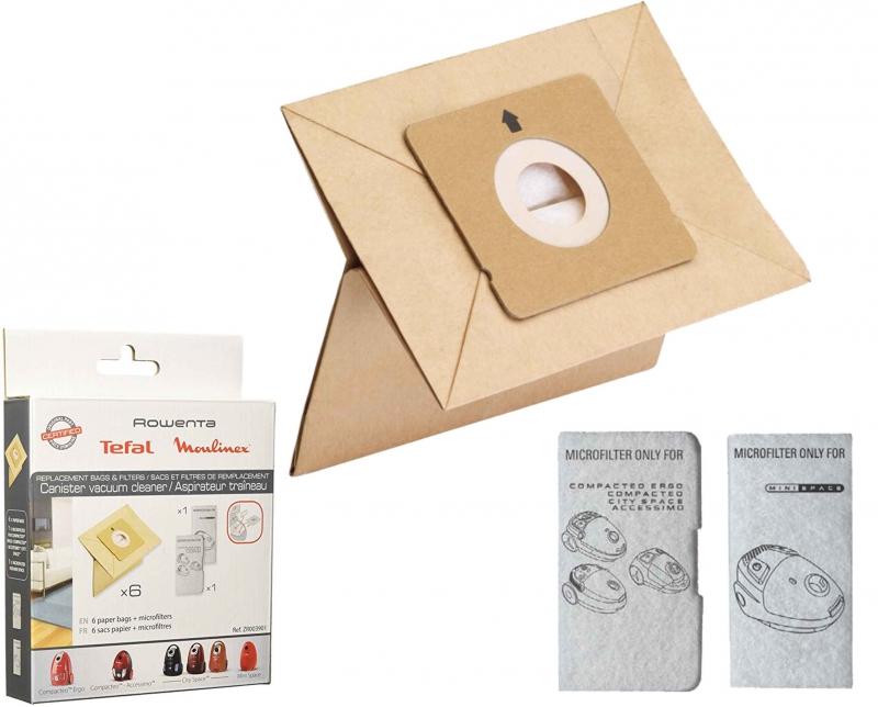 6 sacs aspirateur moulinex mo2423pa city space acheter poche papier aspirateur zr003901. Black Bedroom Furniture Sets. Home Design Ideas