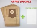 10 sacs aspirateur PROFILO VS5 PT 02 - VS5 PT 08, VS5 PT 15