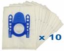 10 sacs Microfibre aspirateur PLICOSA CV 201
