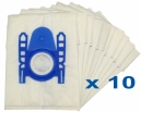 10 sacs Microfibre aspirateur PROFILO VS5 PT 02 - VS5 PT 08, VS5 PT 15