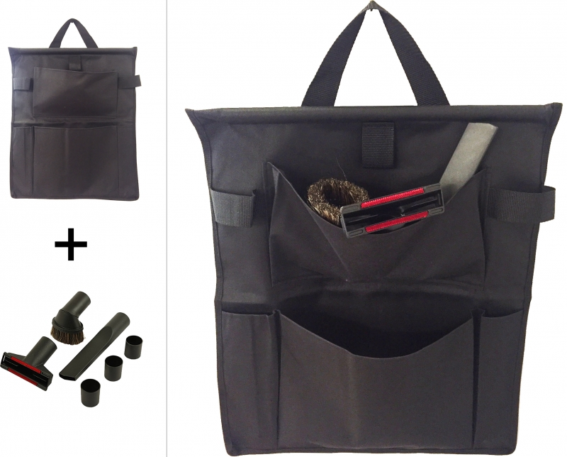 Sac de rangement avec kit d'accessoires universels pour aspirateur - aspireflex.fr