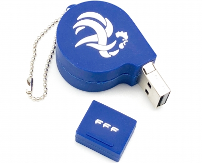 Clé USB 8 GO sifflet football équipe de France