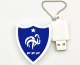 Clé USB 8 Go écusson équipe de France de football