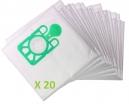 20 sacs Microfibre aspirateur EUROSTEAM 3500/3900 -27ASD PORTABLE