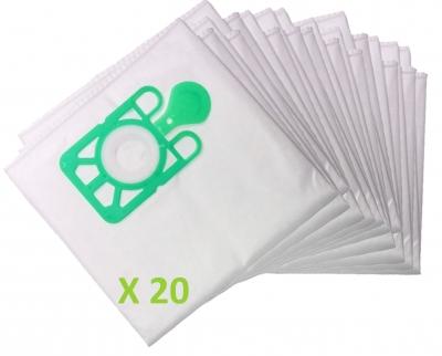 20 x Sacs d'aspirateur pour Numatic NVP 180–2: